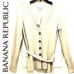 NWT BANANA REPUBLIC ANGORA BELTED CARDIGAN